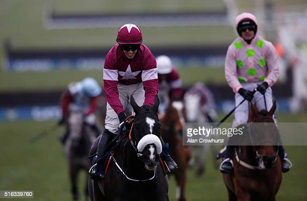 Bryan Cooper riding Don Cossack win The Timico Cheltenham Gold Cup Steeple Chase during the Gold Cup Day of Cheltenham Festival at Cheltenham...