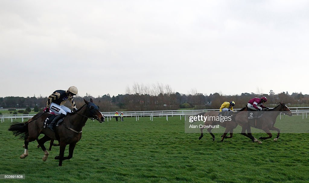 Bryan Cooper riding Don Poli (R) clear the last to win The Lexus Steeplechase at Leopardstown racecourse on December 28, 2015 in Dublin, Ireland.