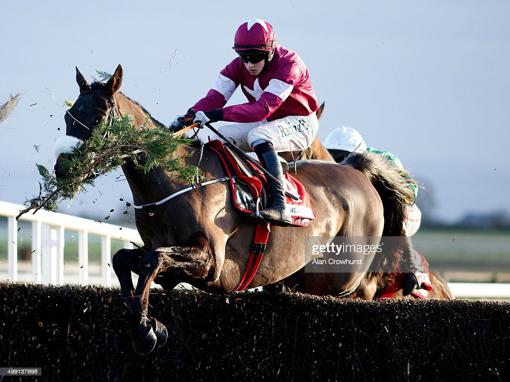 Bryan Cooper riding No More Heroes on their way to winning The Bar One Racing Drinmore Novice Steeple Chase at Fairyhouse racecourse on November 29, 2015 in Ratoath, Ireland.