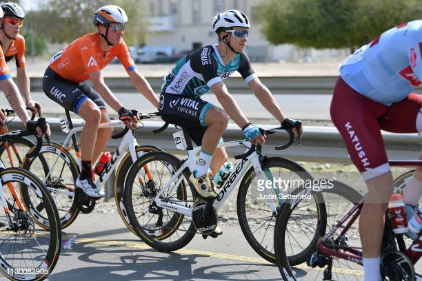 Bryan Coquard of France and Team Vital Concept BB Hotels / during the 10th Tour of Oman 2019 Stage 1 a 1385km stage from Al Sawadi Beach to Suhar...