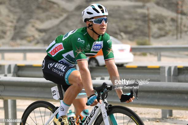 Bryan Coquard of France and Team Vital Concept BB Hotels Green Points Jersey / during the 10th Tour of Oman 2019 Stage 3 a 1925km stage from Shati al...