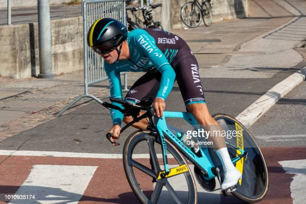 Bryan Coquard of France and team Vital Concept Cycling Club at the Time Trial during the fourth day of Tour of Denmark on August 4 2018 in Nykoebing...