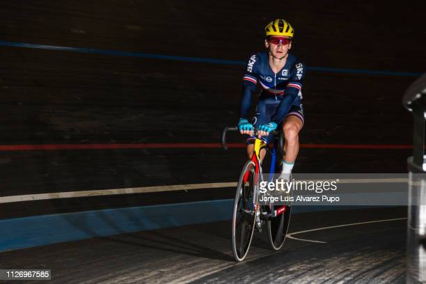 Bryan Coquard of France during the men's Points race of the Omnium during the Belgian International Track Meeting at Eddy Merckx velodrome on...