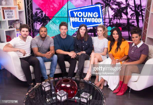 Bryan Craig Chris Warren Jr Lincoln Younes Denyse Tontz Anne Winters Feliz Ramirez Justina Adorno from Grand Hotel visits the Young Hollywood Studio...