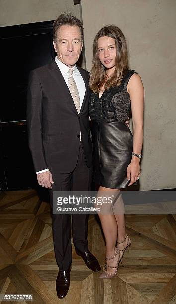 Bryan Cranston and Anna Suponeva attends the Haute Living & Jet Smarter Honor Cover Star Anthony Mackie on May 18, 2016 in New York City.