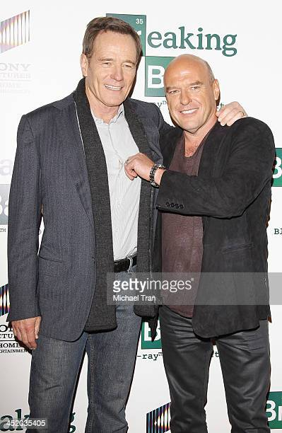 Bryan Cranston and Dean Norris attend the 'No Half Measures Creating The Final Season Of Breaking Bad' DVD launch held at Pacific Theatre at The...