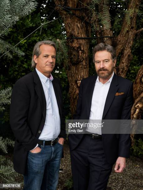 Bryan Cranston and Graham Yost of 'Sneaky Pete' are photographed for The Hollywood Reporter on January 5 2017 in Los Angeles California