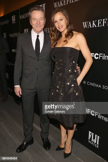 Bryan Cranston and Jennifer Garner attend The Cinema Society and FIJI Water host a screening of IFC Films' 'Wakefield' on May 18 2017 in New York City