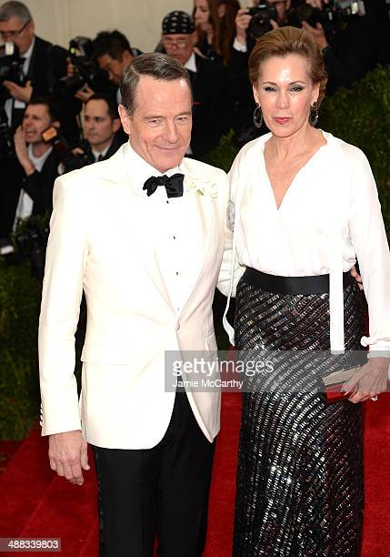 Bryan Cranston and Robin Dearden attend the 'Charles James Beyond Fashion' Costume Institute Gala at the Metropolitan Museum of Art on May 5 2014 in...
