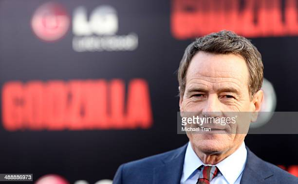 Bryan Cranston arrives at the Los Angeles premiere of 'Godzilla' held at Dolby Theatre on May 8 2014 in Hollywood California