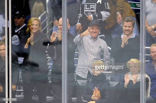 Bryan Cranston attends a hockey game between the Vancouver Canucks and the Los Angeles Kings at Staples Center on November 9 2013 in Los Angeles...