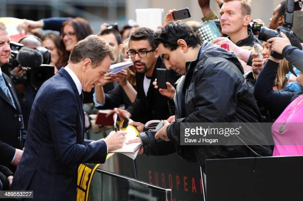 Bryan Cranston attends the European premiere of 'Godzilla' at the Odeon Leicester Square on May 11 2014 in London England