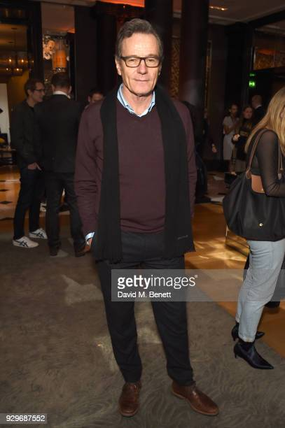 Bryan Cranston attends the Olivier Awards 2018 nominees celebration at Rosewood London on March 9 2018 in London England