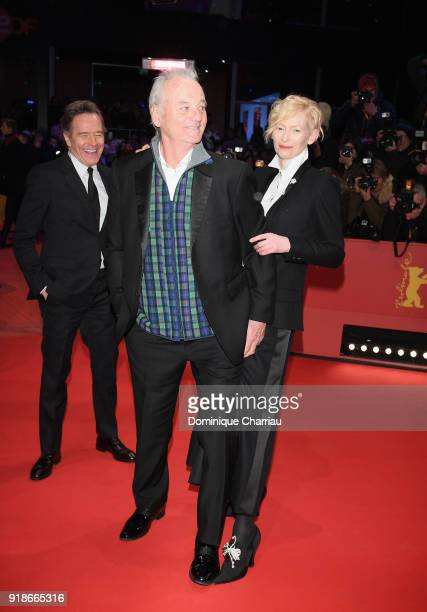 Bryan Cranston Bill Murray and Tilda Swinton attend the Opening Ceremony 'Isle of Dogs' premiere during the 68th Berlinale International Film...