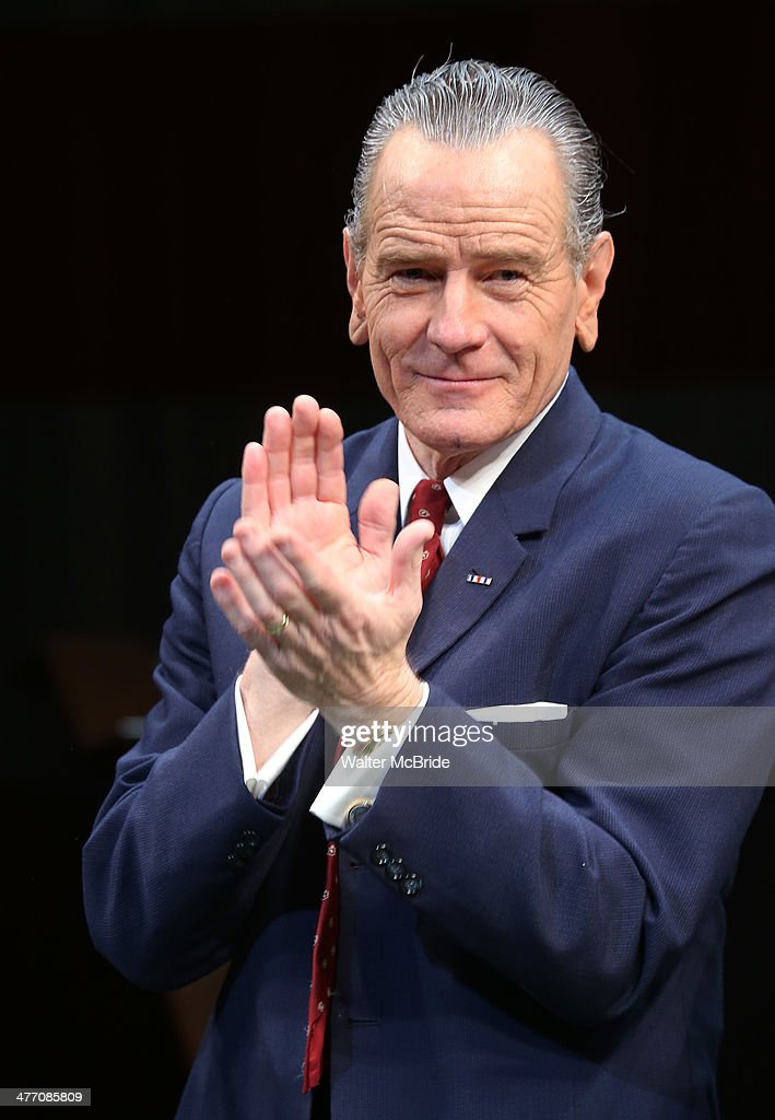 Bryan Cranston during the Broadway opening night performance curtain call for 'All The Way' at The Neil Simon Theatre on March 6, 2014 in New York City.
