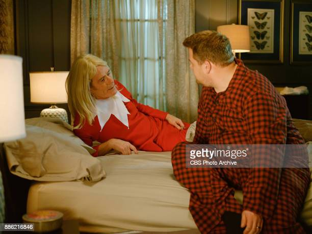 Bryan Cranston performs with James Corden in a sketch called Elf On A Shelf during 'The Late Late Show with James Corden' Monday December 4 2017 On...