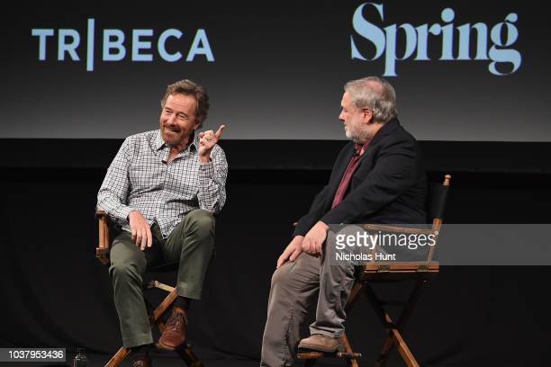 Bryan Cranston speaks at the Tribeca Talks Panel during the 2018 Tribeca TV Festival at Spring Studios at Spring Studios on September 22 2018 in New...