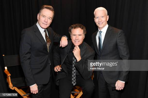 Bryan Cranston Will Ferrell and Anderson Cooper pose backstage during the 12th Annual CNN Heroes An AllStar Tribute at American Museum of Natural...