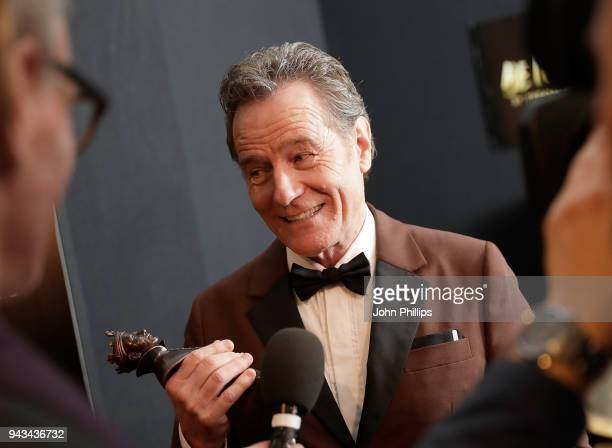 Bryan Cranston winner of the Best Actor award for 'Network' in the press room during The Olivier Awards with Mastercard at Royal Albert Hall on April...