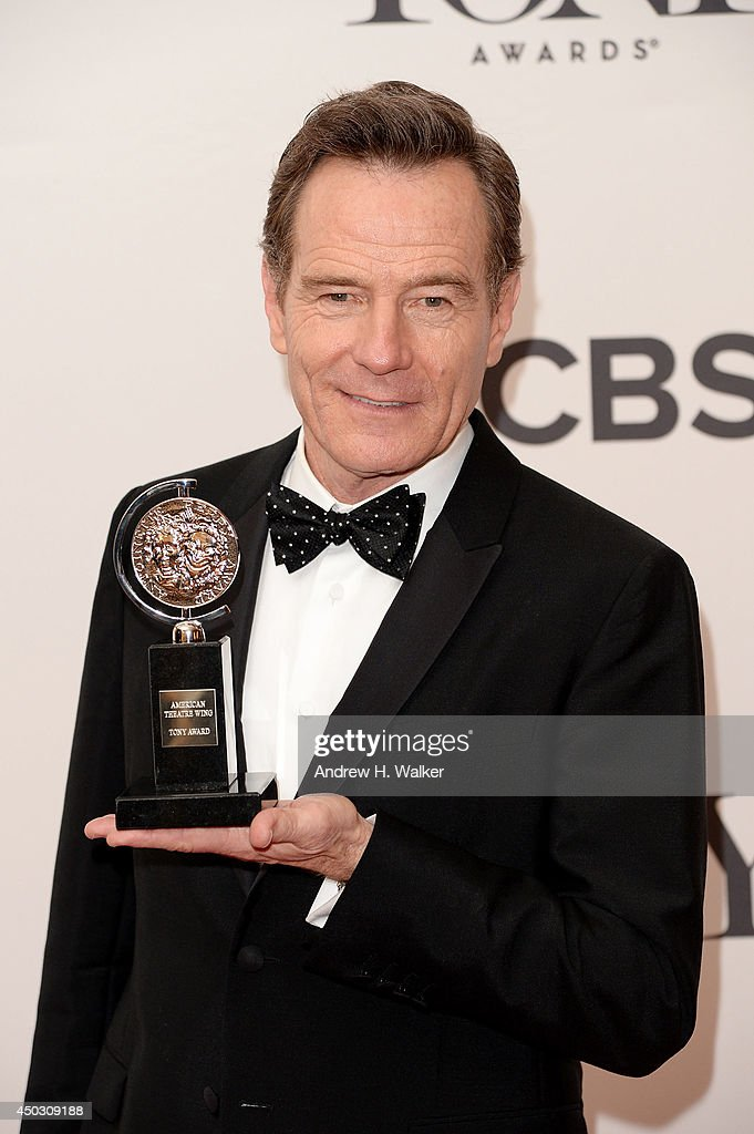 "Bryan Cranston, winner of the Best Performance by an Actor in a Leading Role in a Play for ""All The Way"" poses in the press room during the 68th Annual Tony Awards on June 8, 2014 in New York City."