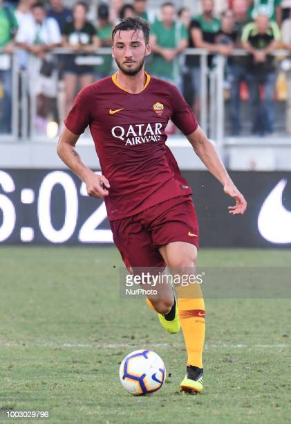 Bryan Cristante during the PreSeason Friendly match between AS Roma and Avellino at Stadio Benito Stirpe on July 20 2018 in Frosinone Italy
