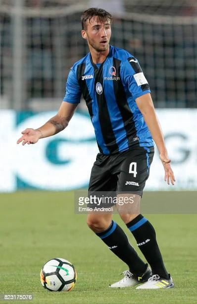 Bryan Cristante of Atalanta BC in action during the preseason friendly match between Atalanta BC and LOSC Lille at Stadio Atleti Azzurri d'Italia on...