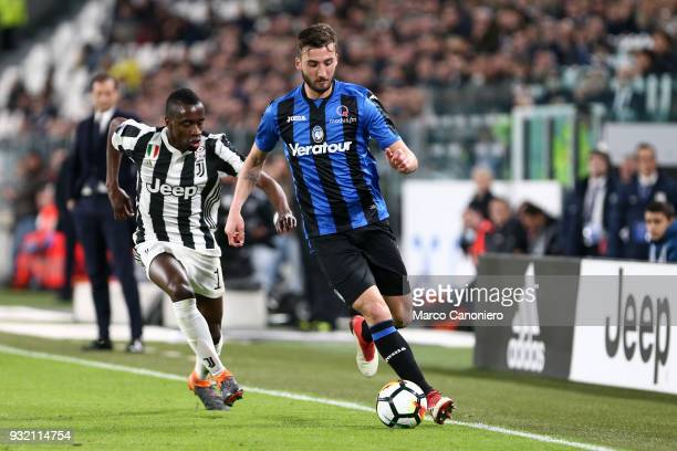 Bryan Cristante of Atalanta Bergamasca Calcio in action during the Serie A match between Juventus Fc and Atalanta Bergamasca Calcio Juventus Fc wins...