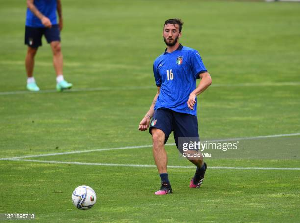 Bryan Cristante of Italy in action during the friendly match between Italy and Italy U20 at Coverciano on June 05, 2021 in Florence, Italy.