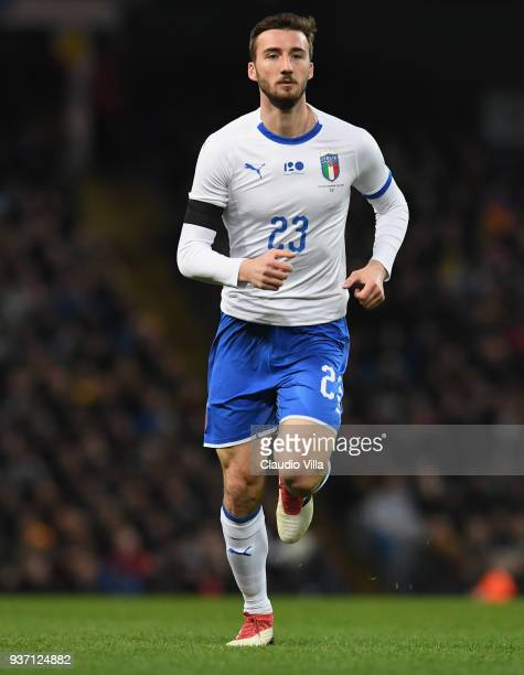 Bryan Cristante of Italy in action during the International friendly match between Italy and Argentina at Etihad Stadium on March 23 2018 in...