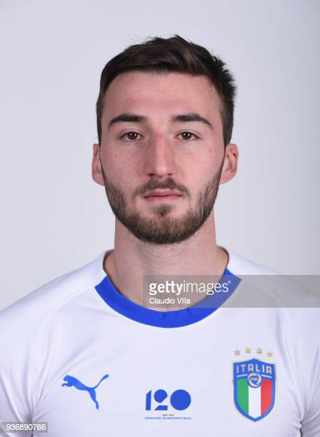 Bryan Cristante of Italy poses during the official portrait session at Centro Tecnico Federale of Coverciano on March 19 2018 in Florence Italy