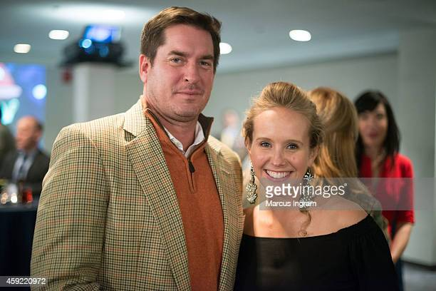 Bryan Crutchfield and Naomi Mann attend VIP reception for Christina Stevens' new book Love The Saint and the Seeker at The Carter Presidential Center...