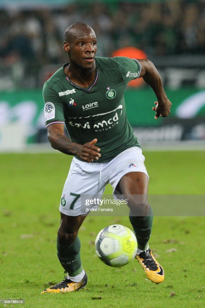 Bryan Dabo of Saint Etienne during the Ligue 1 match between AS Saint Etienne and Amiens SC at Stade Geoffroy Guichard on August 19, 2017 in Saint Etienne, France.