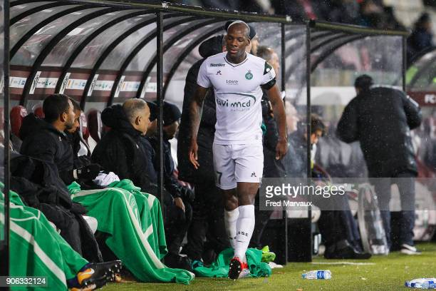 Bryan Dabo of Saint Etienne during the Ligue 1 match between Metz and AS SaintEtienne at on January 17 2018 in Metz