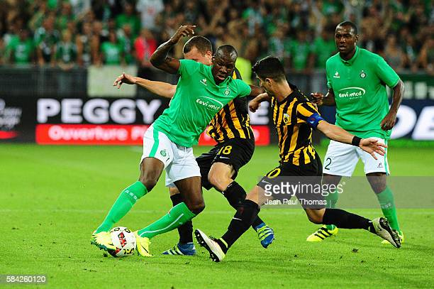 Bryan DABO of Saint Etienne during the Third Qualifying Round Europa League between Saint Etienne and AEK Athnes at Stade GeoffroyGuichard on July 28...