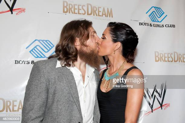 Bryan Danielson aka Daniel Bryan and Brie Bella attend WWE's 2014 SuperStars For Kids at the New Orleans Museum of Art on April 3, 2014 in New...