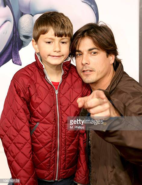 Bryan Dattilo and son during 'Happily N'Ever After' Los Angeles Premiere at The Mann Festival Theater in Westwood California United States