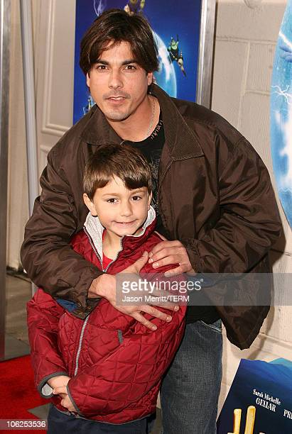 Bryan Dattilo with his son Gabriel during LionsGate's 'Happily N'Ever After' Los Angeles Premiere at The Mann Festival Theater in Westwood California...