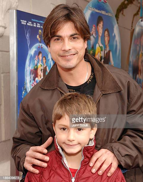 Bryan Dattilo with his son Gabriel during Los Angeles Premiere of LionsGate's 'Happily N'Ever After' Hosted by the Hot Moms Club at The Mann Festival...