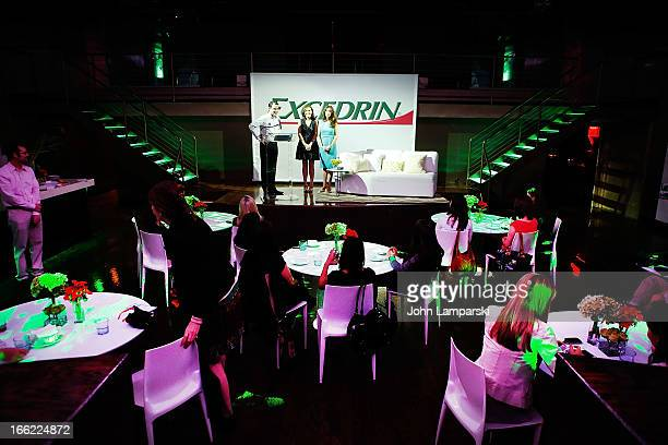 Bryan Duke Molly Shannon and Dr Keri Peterson for Excedrin Laugh At Life's Biggest Headaches at Arena on April 10 2013 in New York City