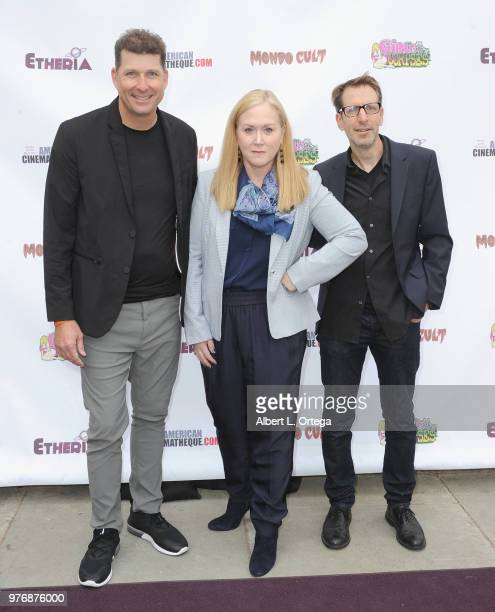 Bryan Erwin Sally Brooks and Peter Spruyt arrive for the 2018 Etheria Film Night held at the Egyptian Theatre on June 16 2018 in Hollywood California