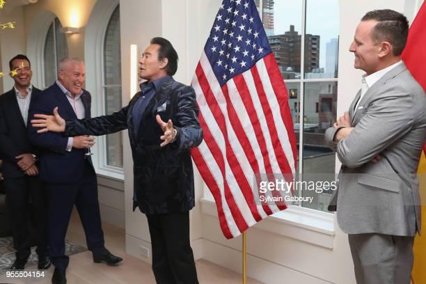 Bryan Eure Bill White Wayne Newton and Ambassador Richard Grenell attend Ambassador Grenell Goodbye Bash on May 6 2018 in New York City