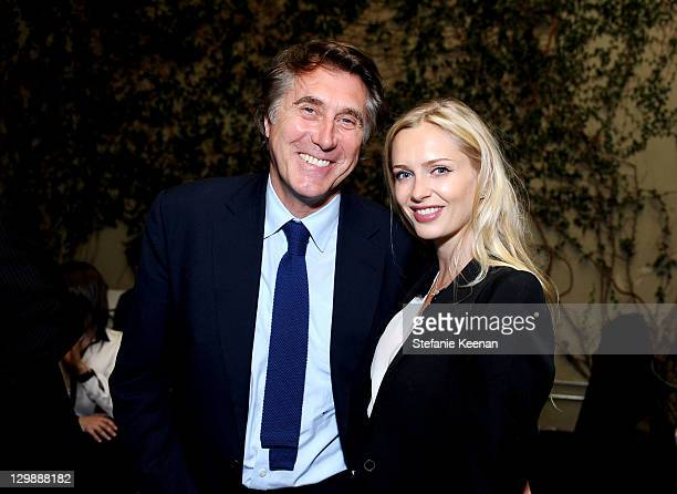 Bryan Ferry and Anouska De Georgiou attend Bryan Ferry Olympia At Michael Kohn Gallery Opening Reception at Michael Kohn Gallery on October 20 2011...