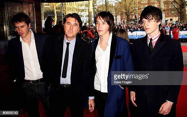 Bryan Ferry and his sons arrive at the UK premiere of 'Flashbacks of a Fool' at the Empire cinema Leicester Square on April 13 2008 in London England