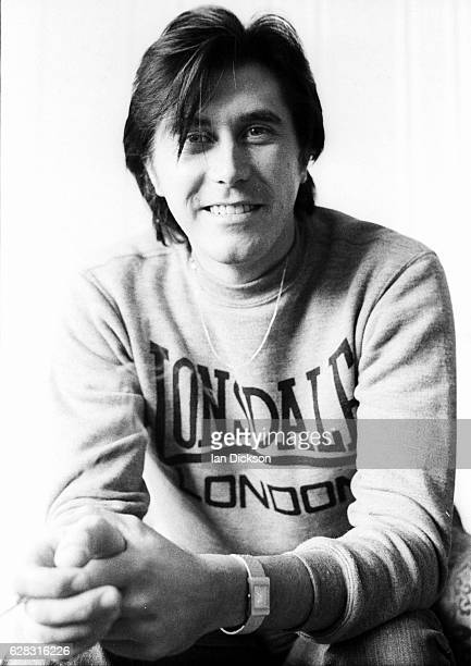 Bryan Ferry at home wearing a Lonsdale sweatshirt at the time of his first solo album 'These Foolish Things' London 1973