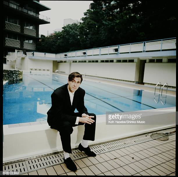 Bryan Ferry at hotel poolside Tokyo February 1983