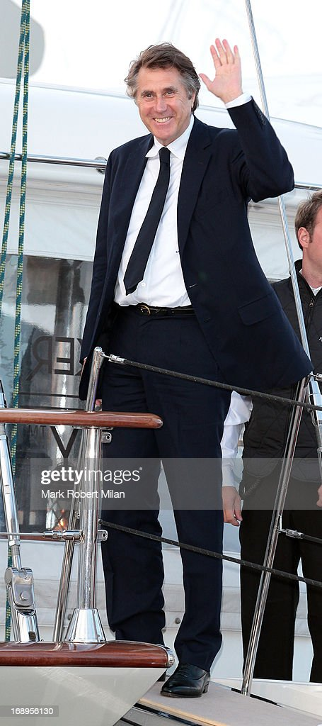 Bryan Ferry attending the Johnnie Walker yacht party at The 66th Annual Cannes Film Festival on May 17, 2013 in Cannes, France.