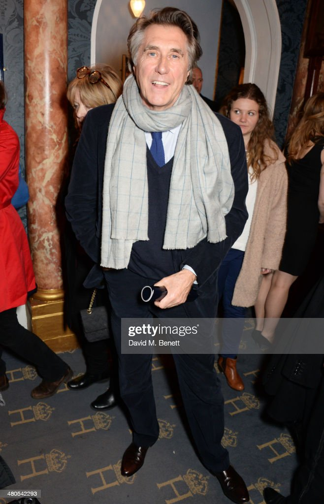 Bryan Ferry attends an after party celebrating the press night performance of 'Fatal Attraction' at Mint Leaf Restaurant on March 25, 2014 in London, England.
