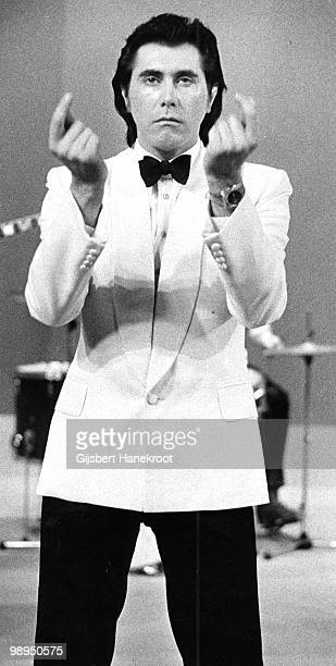 Bryan Ferry from Roxy Music live on stage at Hilversum Netherlands in 1973