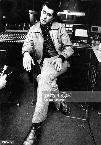 Bryan Ferry from Roxy Music posed in a London recording studio in 1972