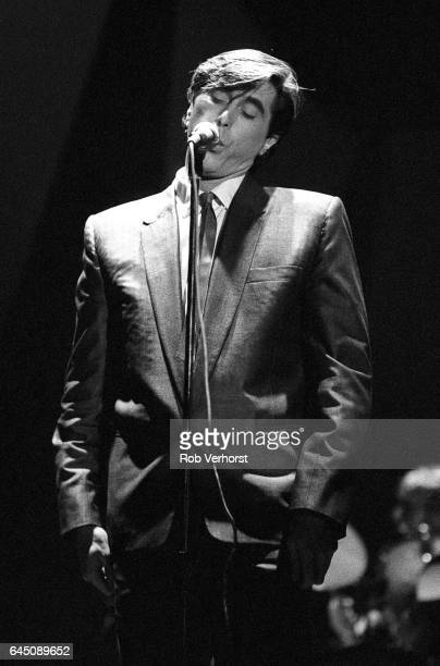 Bryan Ferry of Roxy Music performs on stage at Congresgebouw The Hague Netherlands 6th March 1979